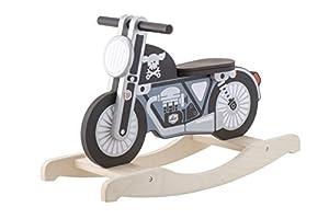 Trudi Peluche Rocking Bike Color Negro 72x46x28 cm 82990
