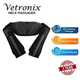 Vetronix VNM-711 Electric Neck, Shoulder and Back Massager with heat kneading nodes