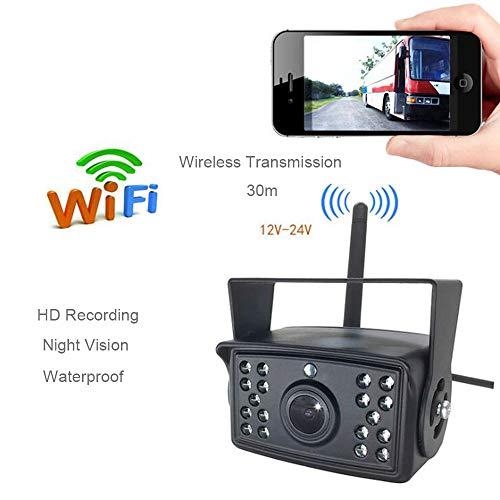 Hochwertige Rückfahrkamera zur Umkehrung der HD-Kamera, um WIFI-Funkkamera für Auto-LKW-LKW-Pickup-Bus-Fahrzeug-Caravans - wasserdicht, Nachtsicht DC 24V anzurufen