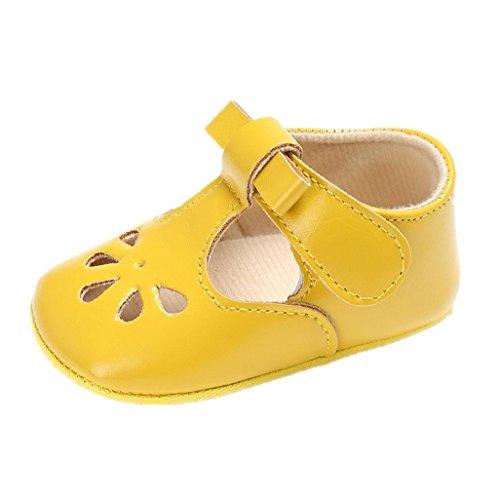Sola Macia M 3 Azul Amarelo 6 Para 18 De Auxma Sandálias Bowknot 3 Meses Princesa Sapatos De Bebé Oco wpaaIgqX