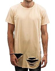 T-shirt destroy Sixth June coupe arrondie noir 1783V