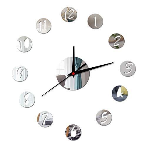 Quartz Küche Zylbdnb Wall Clock Selbst Sticker silver Modern Nummern 3d Design UhrRunde Digitale Metall Decor Hängeschloss y8wnvmNO0