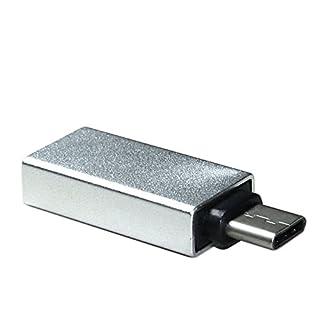 Archgon® USB 3.1 GEN II Typ C Stecker auf USB 3.0 Typ A Buchse Adapter, edlen Aluminiumgehäuse in silber kompatibel zu MacBook 12