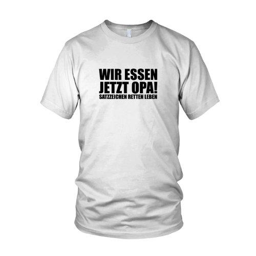 Satzzeichen retten Leben - Herren T-Shirt Weiß