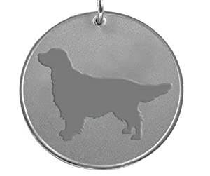 Personalised Golden Retriever Dog Pet ID Tag Disc Engraved Free.......TO LEAVE ENGRAVING DETAILS PLEASE READ PRODUCT DESCRIPTION LOWER DOWN THIS PAGE.