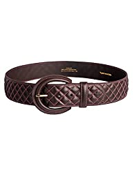 Noble Outfitters English Belt Womens Classic Quilted XS Havana 29508