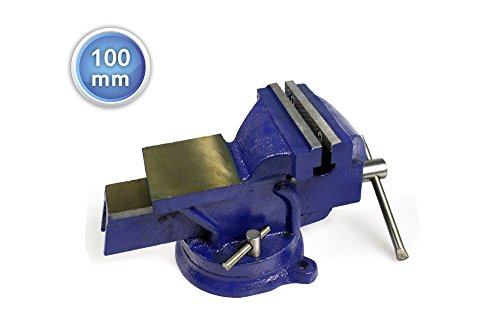 Vetrineinrete® Morsa da banco girevole in ghisa con incudine per filettatura segatura fresatura saldatura 100 mm