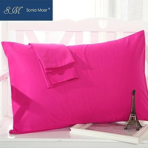 Sonia Moer Premium 50% coton 50% polyester taie d'oreiller, lot de 2