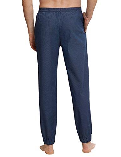 Schiesser Herren Schlafanzughose Mix & Relax Hose Lang Blau (Indigo 824), Medium (Herstellergröße: 050) - 2