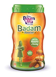 Bournvita Badam Booster Chocolate Drink with Honey Almond 400gm Jar
