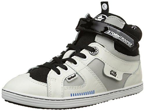 Kickers Galactic, Jungen Hohe Sneakers Weiß (blanc/noir)