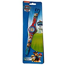 PAW PATROL PAWPATROL Kids Digital Watch Child Digital Connected Wrist Watch With Plastic Strap | With the Pictures Of Paws (Red and Blue)