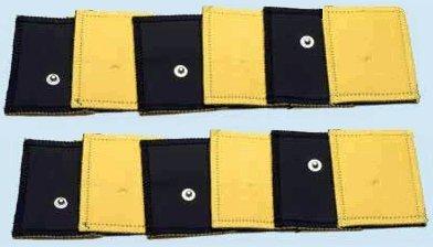 Kit 12 Elettrodi pezze in pelle ecologica Grandi 8x12cm con clip 4mm