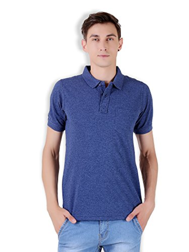 Tapasya Navy Grindle Polo T-Shirt