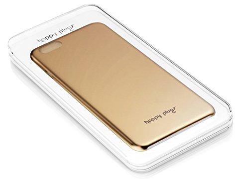 Happy Plugs Deluxe Slim Smartphone Hülle Case Cover Kompatibel mit Apple iPhone 6 und 6S  - Roségold Roségold
