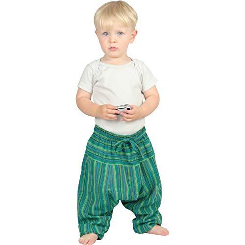 e für Kinder Stripe Pumphose Haremshose Sarouel Shalwar flaschengrün 92/98 ()