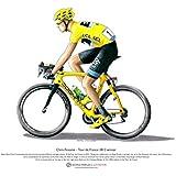 Chris Froome - vainqueur du Tour de France 2013 - ART POSTER A3 taille
