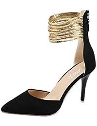 7c95508884e4 Solike Chaussures Femme Sexy Femmes Escarpins à Pretty Paillettes  Chaussures de Pointus à Talons Hauts Printemps