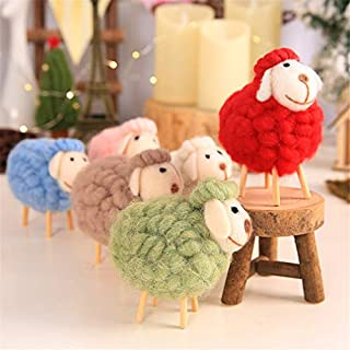 Hemore Wood Cloth Sheep Ornaments Home Decoration Fairy Simple