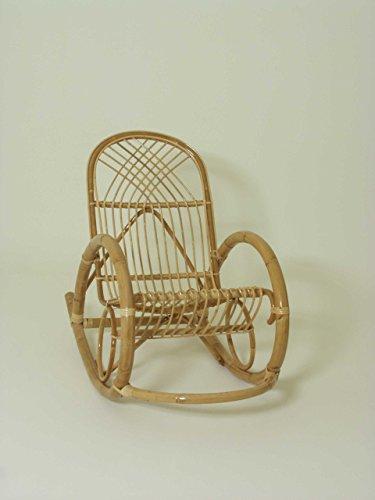 Chaise à bascule en rotin, Aubine. , Siège tressé tissé à la main et le dossier.