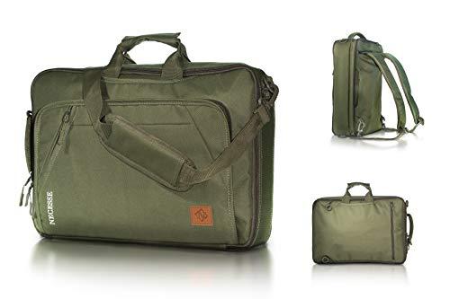 Necesse Business Tasche - Praktische 3in1 Funktion: Umwandelbar in Umhängetasche, Aktentasche und Rucksack - Mit Laptopfach - Optimaler Einsatz für Schule, Uni und Arbeit -