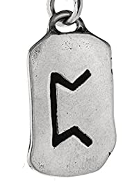 Perthro Rune Pendant Made From 925 Sterling Silver No. 298