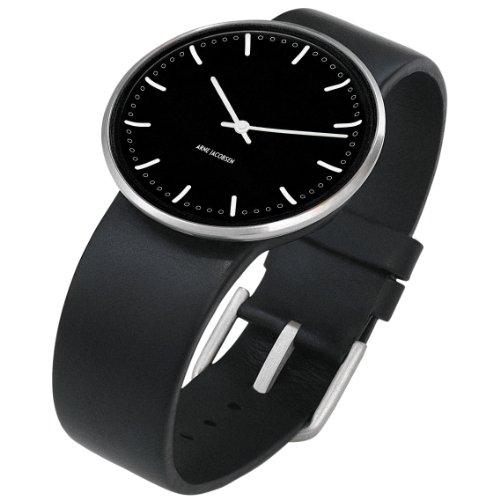 Rosendahl 43437 - Reloj analógico unisex de cuarzo con correa de piel negra