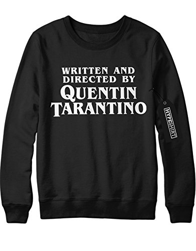 Sweatshirt WRITTEN AND DIRECTED BY QUENTIN TARANTINO C123456 Schwarz (Bill Kinder Kostüm Kill)