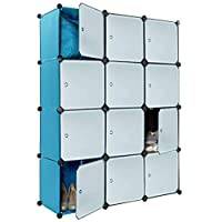 Dirty Pro Tools™ Blue Plastic Wardrobe Cupboard Storage Shelf Box Cube Shelves Unit Clothes
