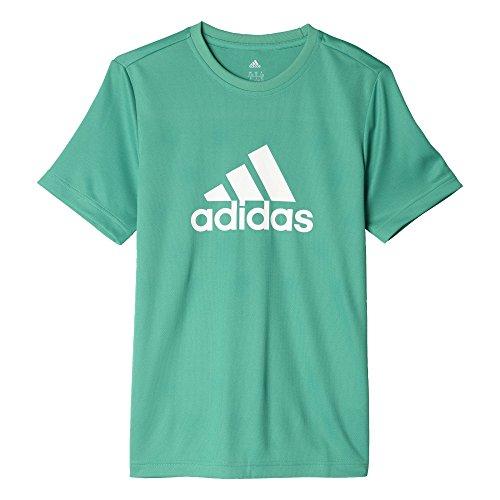 adidas YB GU Tee T-shirt für Jungen, Grün (Verbas / Weiß), 140