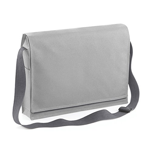 BagBase Borsa Tracolla Unisex Conference messenger 38.5x29x8cm 7L Light Grey Light Grey