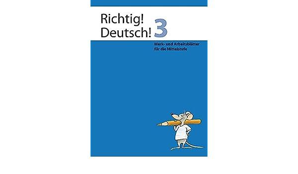 Richtig Deutsch 3 Arbeitsheft Merk Und Arbeitsblätter