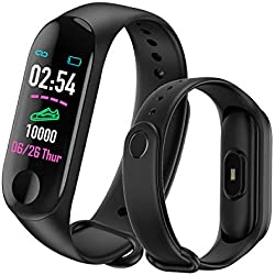 Orologio Fitness Tracker Watch - MATEYOU Smart Fitness Tracker Watch Braccialetto Cardiofrequenzimetro Da Polso Cardio Contapassi Distanza Calorie Touch Screen per Donna Uomo