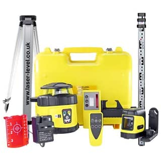 Fukuda FRE-205 Kit - Fully Self Levelling Rotary Laser Level, Laser Detector, Remote & Indoor Cross Line Laser, 2.4m Staff, Surveying Tripod & Calibration Certificate