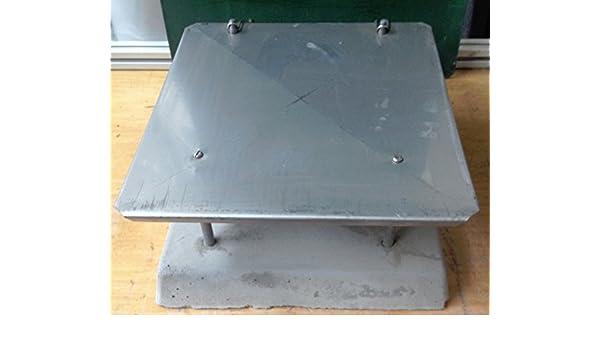 pedkit Schornsteinabdeckung Kaminabdeckung Kaminhaube Regenhaube aus Edelstahl 40 /× 40//50 /× 50 cm