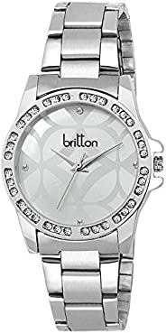 Britton Analog White Dial Women's Watch - BR-LR043-WH