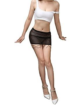 Las mujeres Elsayx mini falda Sheer Lingerie