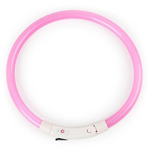 Feli546Bruce Collar, Recargable LED Intermitente Nocturno