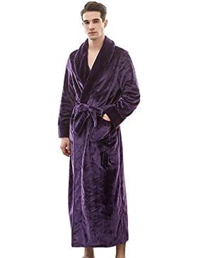 SUIMO - Albornoz Grueso de Invierno Otoño Bata de Baño Kimono Unisex para Hombre Mujer Ropa de Dormir Pijama para...