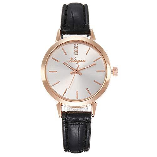 XZDCDJ Damenuhren Erwachsene Analog Quarz Uhr Fashion Armbanduhren Klassiche Uhren Mode einfach ohne Digitalwaage Rose Gold Shell Gürtel Quarz weibliche Uhr - Rose Ärmellose Shell