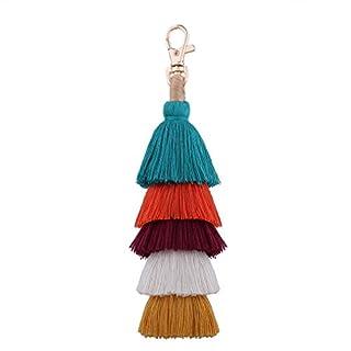 Yazilind Anhänger Schlüsselanhänger schöne Tarot Quasten Schlüsselanhänger für Handtasche Auto Dekoration Geschenk (1)