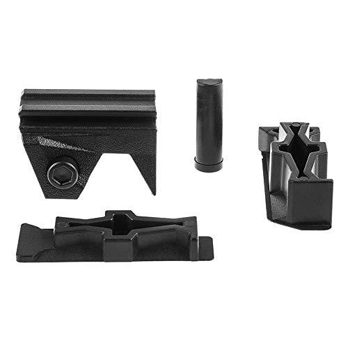 MAJGLGE 4pcs Anteriore e Laterale Compatibile Picatinny Base Set per Pistola Giocattolo Nerf Stryfe–Nero Nero