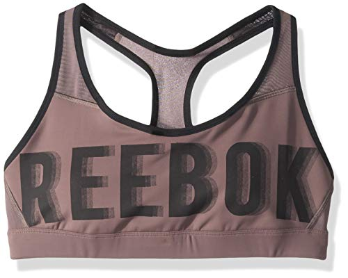 Reebok Damen Hero Brand Read BH, Almost Grey, Medium (- Exercise-bh-top)