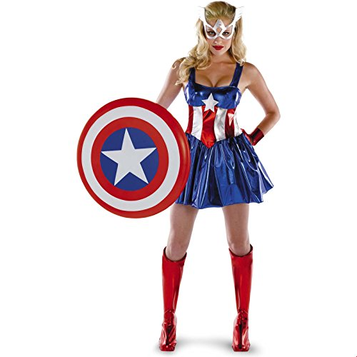 �n American Dream Sassy Deluxe Kostüm (Medium) (Captain America Kostüme Damen)