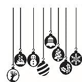 Shop square64Feliz Navidad Decorativa faroles Densidad de Agua extraíble Vinilo Pared Adhesivo Decorativo para Navidad para Hogar Salón Shop Mall Ventana Puerta de Cristal Decoración Póster