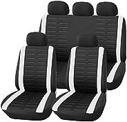 Upgrade4cars Copri-sedili Auto Universale Verde Nero | Set Copri-Sedile Universali per Anteriori e Posteriori