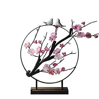 Xianw Flor De Ciruelo Decoraciones Artísticas, Decoración del Hogar DIY Decoración Artística, Mesa De Té Bogu Decoración del Dormitorio,A