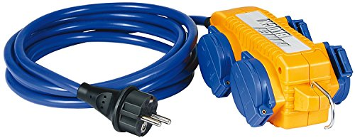 Preisvergleich Produktbild Brennenstuhl Verlängerungskabel IP44 mit Powerblock Baustelleneinsatz und Outdoor 5m blau, 1161750