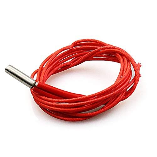 DEjasnyfall 3d drucker teile 12 v / 24 v 40 watt heizrohr single-ended elektrische heizelemente 6 * 20mm heizrohr für hotend kabel (rot) -