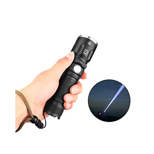 Veramz Torcia LED, Torcia LED Ricaricabile, Torcia Tattica Impermeabile, 26650 Batteria, Cree XHP50 Chips, 5Mode, Fascio Regolabile (26650 Batteria Compresa)[Classe di Efficienza Energetica A]